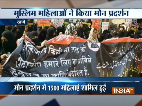 1,500 Muslim women protest against Triple Talaq Bill in Thane