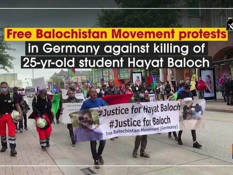 Free Balochistan Movement protests in Germany against killing of 25-yr-old student Hayat Baloch