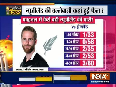 इंग्लैंड की धारदार गेंदबाजी, न्यूजीलैंड 241 रनों पर रोका