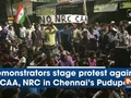 Demonstrators stage protest against CAA, NRC in Chennai's Pudupet