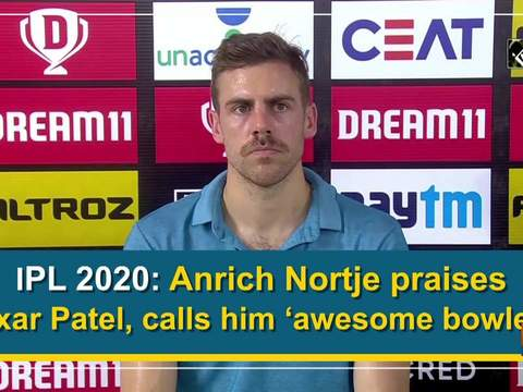 IPL 2020: Anrich Nortje praises Axar Patel, calls him 'awesome bowler'