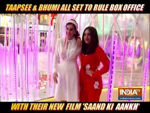Taapsee Pannu and Bhumi Pednekar promote Saand Ki Aankh