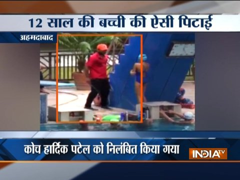 Ahmedabad: Case registered against swimming coach after video showing thrashing of minor girls goes viral