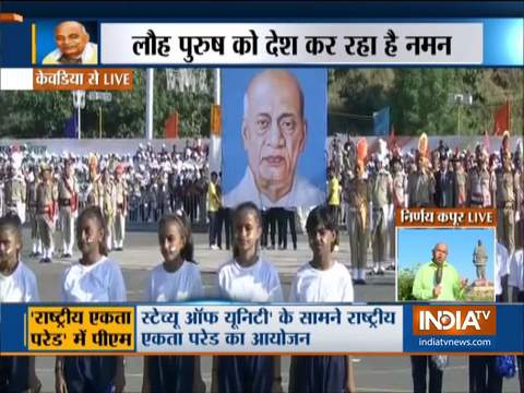Gujarat: PM Modi administers Pledge of Unity at Kevadia, watch full event