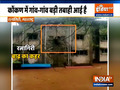 Watch: women falls back into water during rescue operation in Ratnagiri