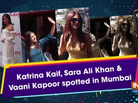 Katrina Kaif, Sara Ali Khan and Vaani Kapoor spotted in Mumbai