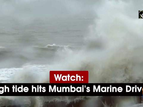 Watch: High tide hits Mumbai's Marine Drive