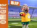 OMG: Modi Knocks-out team Rahul Gandhi in a football match