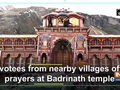Devotees from nearby villages offer prayers at Badrinath temple