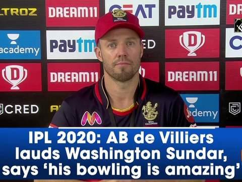 IPL 2020: AB de Villiers lauds Washington Sundar, says 'his bowling is amazing'