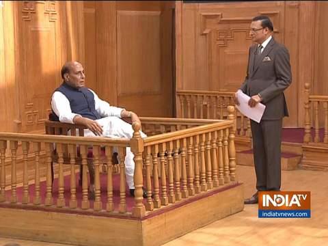 'आप की अदालत' में राजनाथ सिंह : सिंधिया जी को साथ नहीं लिया, सिंधिया जी साथ आ गए
