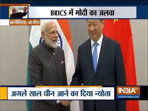 पीएम मोदी ने चीनी राष्ट्रपति शी जिनपिंग, ब्राजील के राष्ट्रपति बोल्सोनारो से मुलाकात की