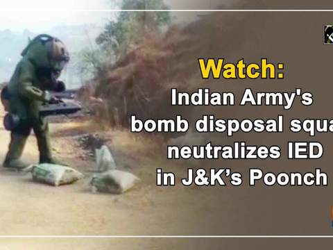 Watch: Indian Army's bomb disposal squad neutralizes IED in JK's Poonch