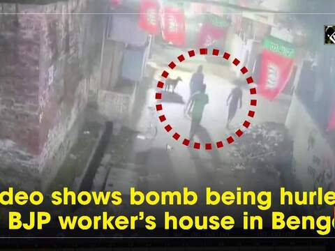 Watch: Video shows bomb being hurled at BJP worker's house in Bengal