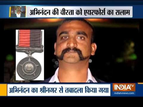 IAF ने Wg Cdr अभिनंदन के लिए 'वीर चक्र' की सिफारिश की; सुरक्षा के कारण उन्हें श्रीनगर एयरबेस से हटाया गया
