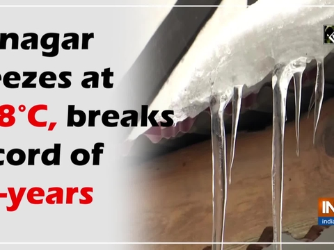Srinagar freezes at -8.8 C, breaks record of 30-years
