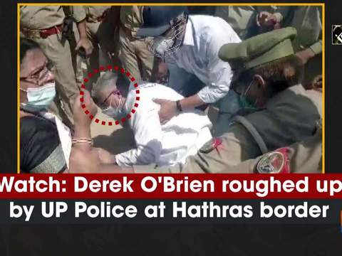 Watch: Derek O'Brien roughed up by UP Police at Hathras border