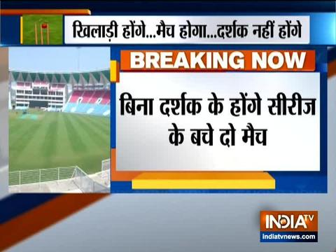Remaining India vs South Africa ODIs to be played in empty stadiums due to coronavirus threat