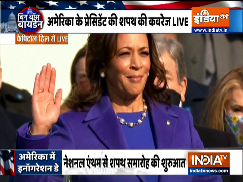 Kamala Harris sworn-in as the first female Vice President of the United States of America