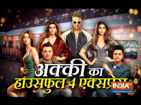 Housefull 4 Express: Akshay Kumar, others have fun in the train