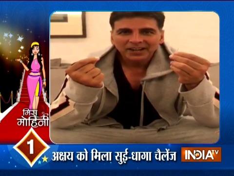 Akshay Kumar makes an attempt at Varun-Anushka's Sui-Dhaaga challenge
