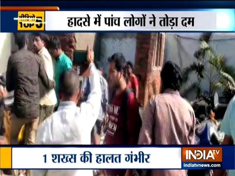 हैदराबाद में दीवार गिरने से पांच की मौत
