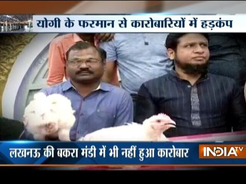 Lucknow: Meat sellers go on strike protesting slaughterhouse crackdown
