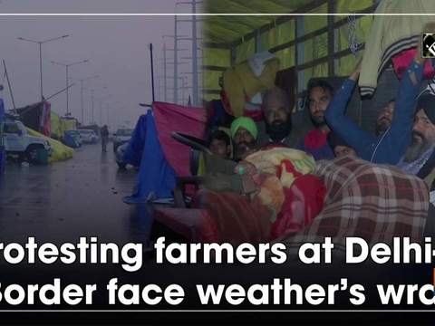 Protesting farmers at Delhi-UP Border face weather's wrath