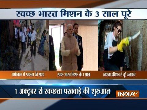 Gandhi Jayanti: PM Modi to pay tribute to father of nation with Clean India Drive