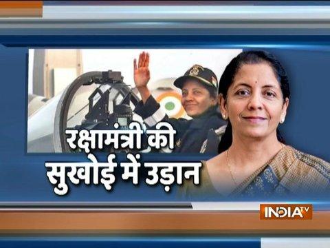Defence Minister Nirmala Sitharaman flies in Sukhoi-30 MKI