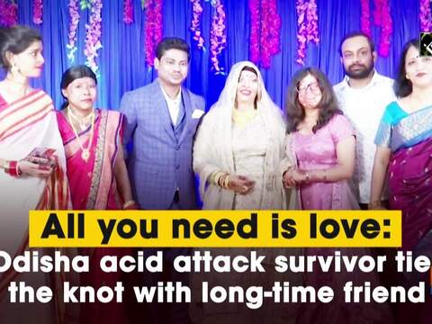 All you need is love: Odisha acid attack survivor ties the knot with long-time friend