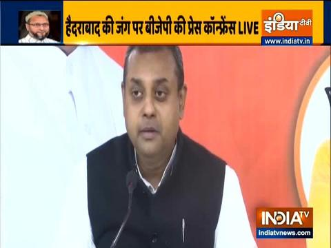 GHMC Polls: Sambit Patra attacks AIMIM, TRC & Congress ahead of road show