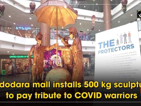 Vadodara mall installs 500 kg sculpture to pay tribute to COVID warriors