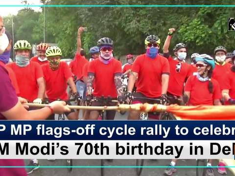 BJP MP flags-off cycle rally to celebrate PM Modi's 70th birthday in Delhi