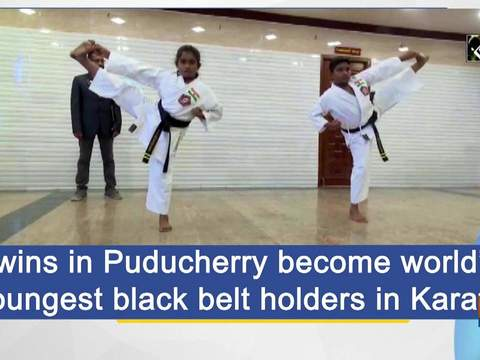 Twins in Puducherry become world's youngest black belt holders in Karate