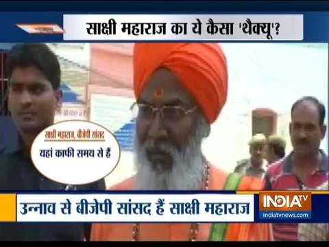 Sakshi Maharaj meets rape accused Kuldeep Singh Sengar in Sitapur jail