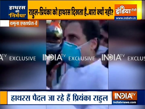 Hathras Case: Rahul and Priyanka Gandhi's march stopped, cops cite Epidemic Act