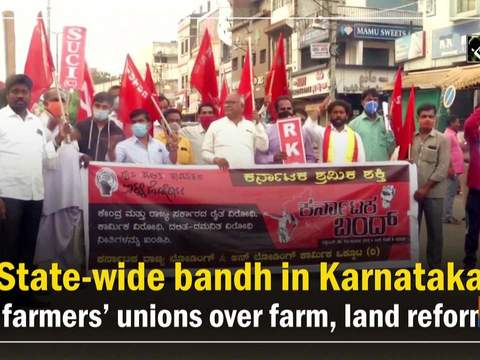 State-wide bandh in Karnataka by farmers' unions over farm, land reforms