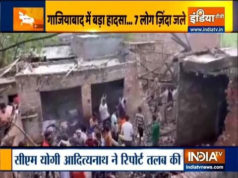 7 persons dead and 4 injured in an explosion at a factory in Modi Nagar