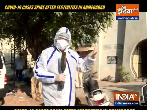 दीपावली के बाद अहमदाबाद में कोरोनो वायरस के मामलों में वृद्धि
