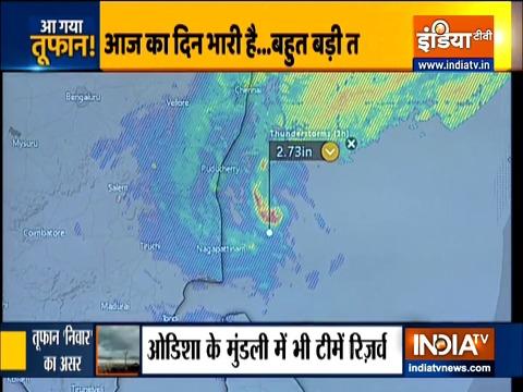 आज रात तमिलनाडु के तट से टकरा सकता है चक्रवाती तूफान निवार