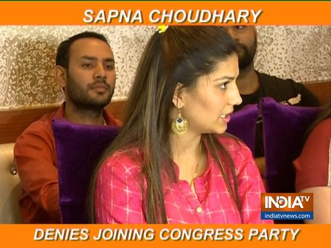 Haryanvi singer and dancer Sapna Choudhary takes a U-turn, says she has not joined Congress