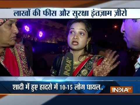 Delhi banquet hall roof collapses during a wedding ceremony
