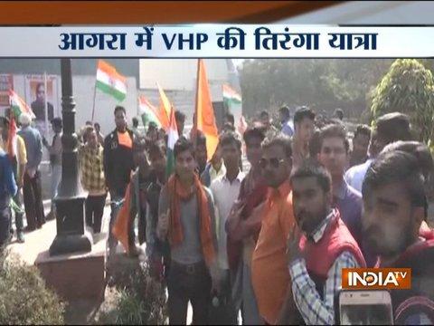 Kasganj violence: VHP holds Tiranga Yatra in Agra