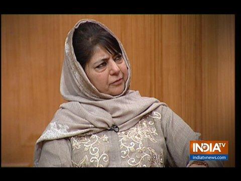 आप की अदालत में बोली महबूबा मुफ़्ती, कश्मीर का मुद्दा बात-चीत से ही हल हो सकता है
