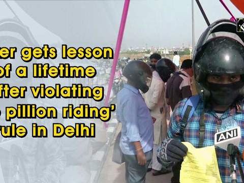 Biker gets lesson of a lifetime after violating 'no pillion riding' rule in Delhi