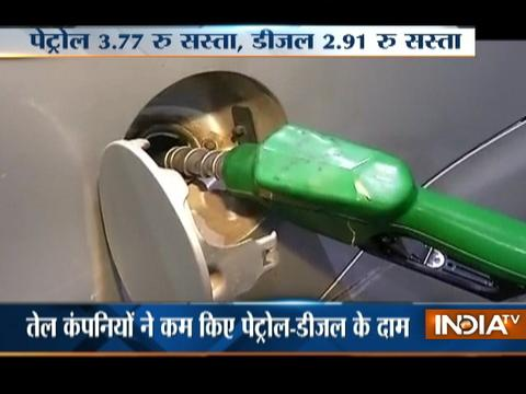 Petrol price cut by Rs 3.77/litre; diesel by Rs 2.91