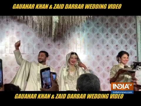 Actress Gauahar Khan got married to beau Zaid Darbar on December 25