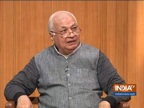Arif Mohammed Khan on Aap Ki Adalat: Do you think Muslims aren't safe in India?