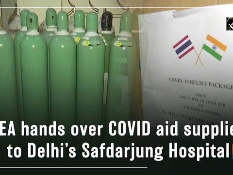 MEA hands over COVID aid supplies to Delhi's Safdarjung Hospital